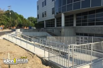 Aluminum Handrail System For Handicap Building Access