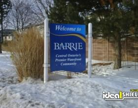 Custom Bollard Sign System With City Welcome Sign