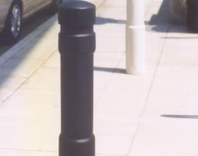 Black Architectural Bollard Cover