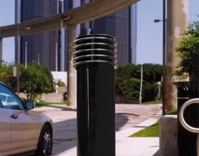 Black Cinco Decorative Bollard