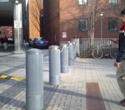 Ribbed Decorative Bollard Cover
