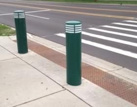 Green Cinco Decorative Bollard