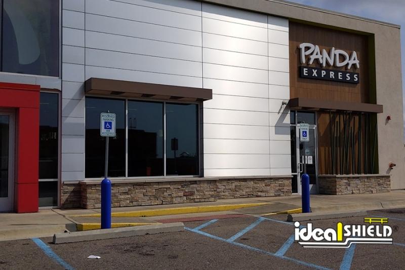 Ideal Shield's Handicapped Bollard Sign Systems at Panda Express
