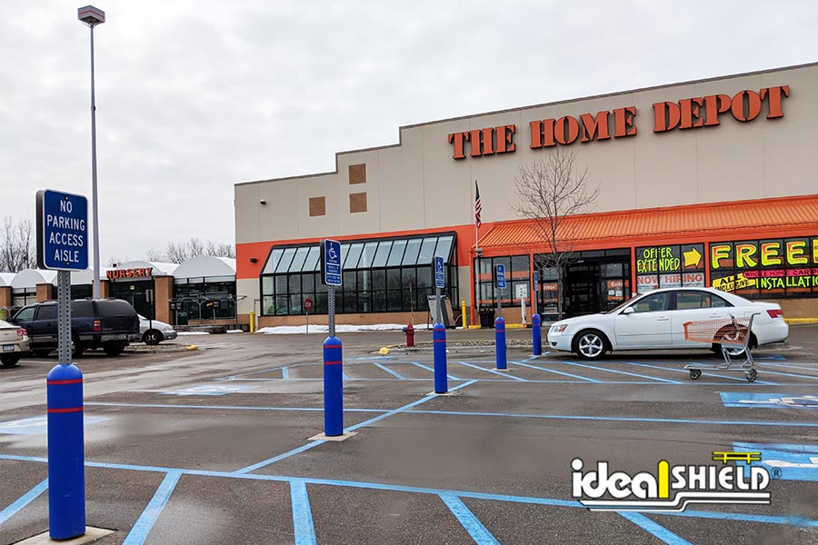 Ideal Shield's Handicap Bollard Sign Systems at Home Depot
