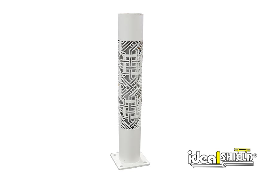 Custom cut Steel Pipe Bollard with base plate