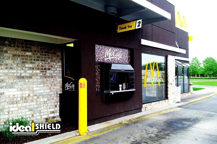 McDonalds Bollard Cover with logo