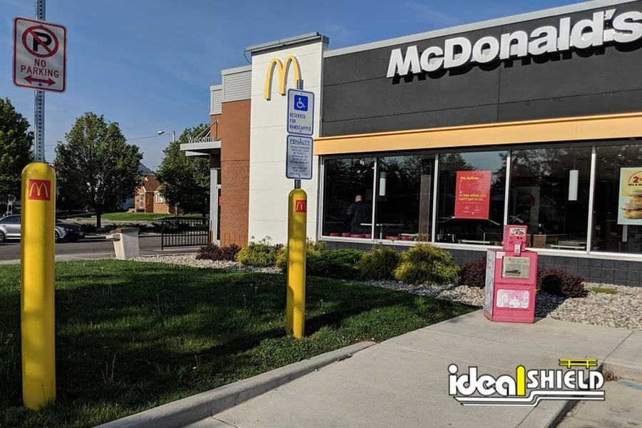 McDonald's branded Bollard Sign Systems