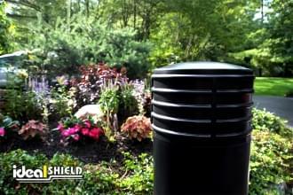 Black 10 Inch Cinco Decorative Bollard Cover Garden
