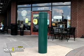 "Ideal Shield's 10"" Cinco Decorative Bollard Cover at Starbucks"