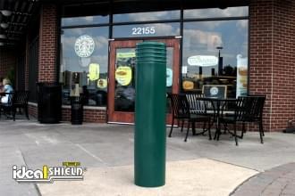 Green Cinco Bollard Cover Retail Entry