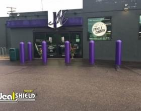 "Ideal Shield's purple 1/4"" Bollard Covers"