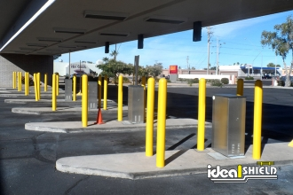 Yellow 1/4 Inch Bollard Cover