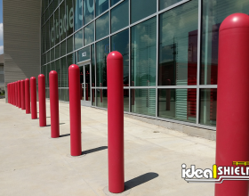 Ideal Shield's red bollard covers at Citadel