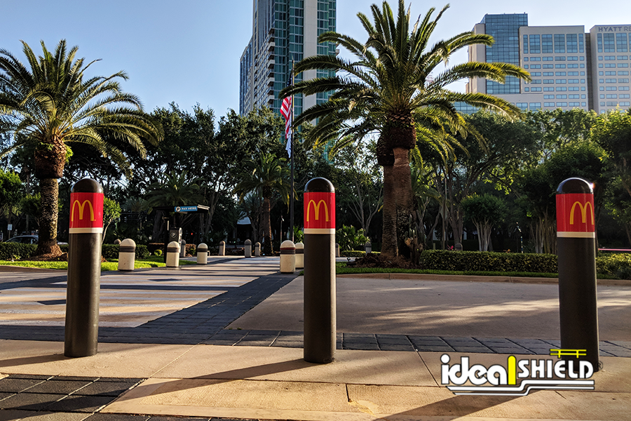 Ideal Shield's Bollard Covers at the 2018 McDonald's Worldwide Convention in Orlando, Florida