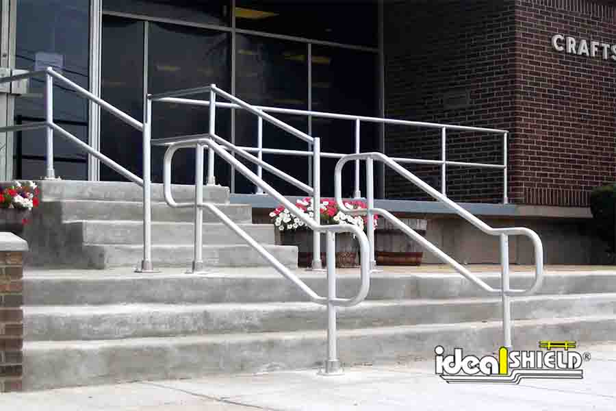 Railing Along Stairs That Meets ADA Handrail Requirements