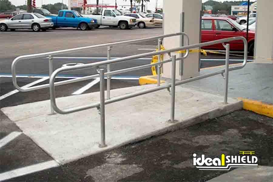 Standard Handrail Pipe Size Steel Pipe Plastic Handrails