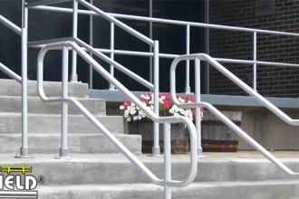 This Railing Meets ADA Handrail Requirements For Stairs