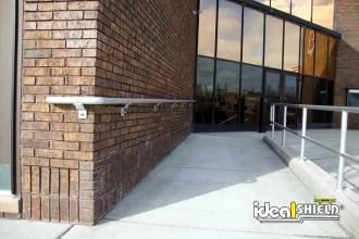 ADA Compliant Handrail Along Wheelchair Ramp