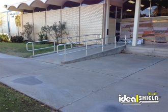 Our Railing Meets ADA Wheelchair Ramp Regulations As Shown Here