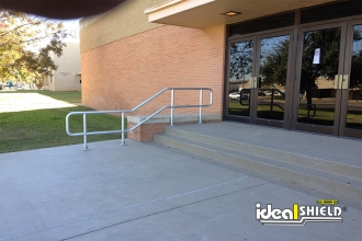 Our ADA Approved Handrail On A College Campus