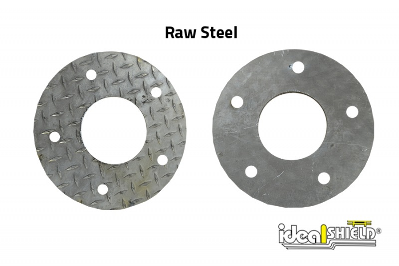 Ideal Shield's Custom Steel Cutting: Rounded base plate