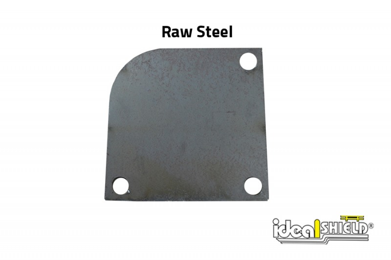 Ideal Shield's Custom Steel Cutting: Curved Edge Base Plate