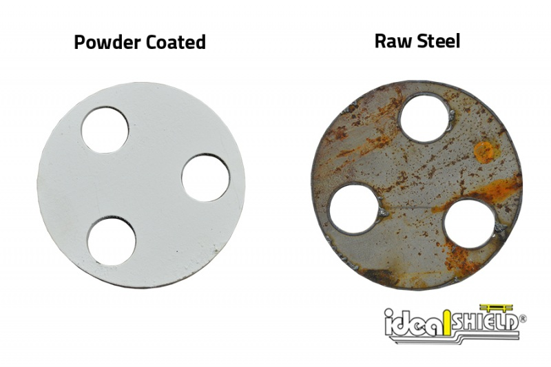 Ideal Shield's Custom Steel Cutting: Rounded base plates