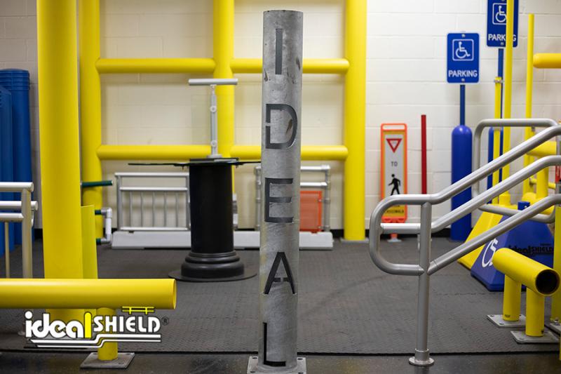 Ideal Shield's Custom Cut Steel Pipe Bollard