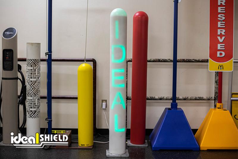 Ideal Shield's Custom Cut Steel Pipe Bollard for Lighted Bollard