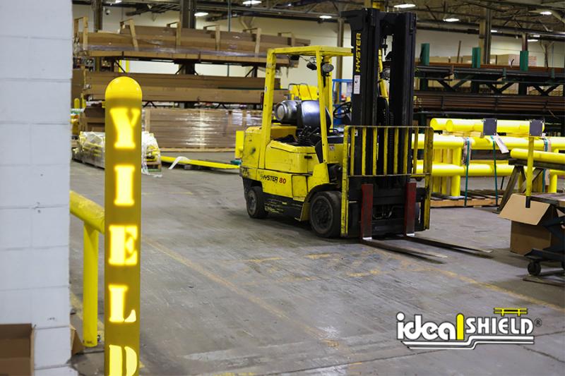 Ideal Shield's Custom Cut Steel Pipe Bollard for Facility