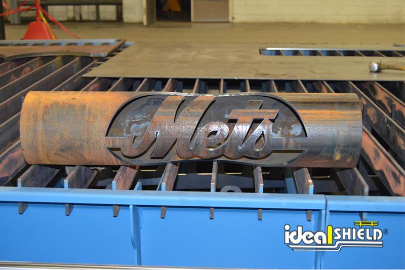 Ideal Shield's CNC Plasma Machine cut Mets Bollard