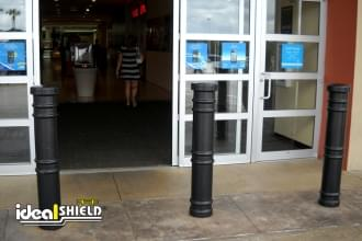 Black Metro Decorative Bollard Cover For Storefront