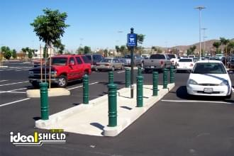 "Ideal Shield's 6"" Metro Decorative Bollard Covers"