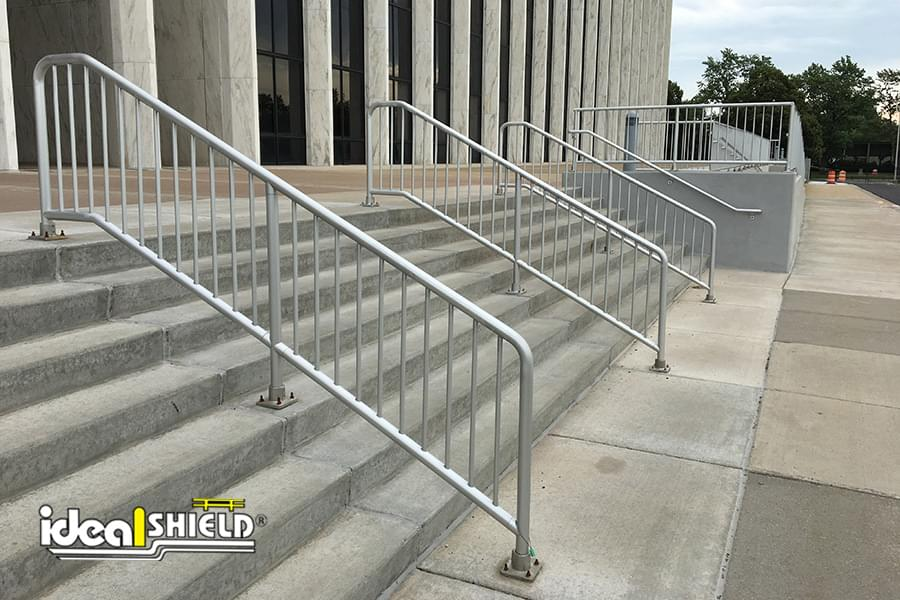 Custom Aluminum Handrail Amp Railing Systems Ideal Shield