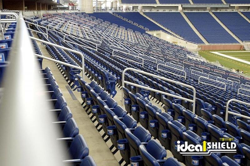 Ideal Shield's Aluminum Handrail at Ford Field in Detroit, Michigan