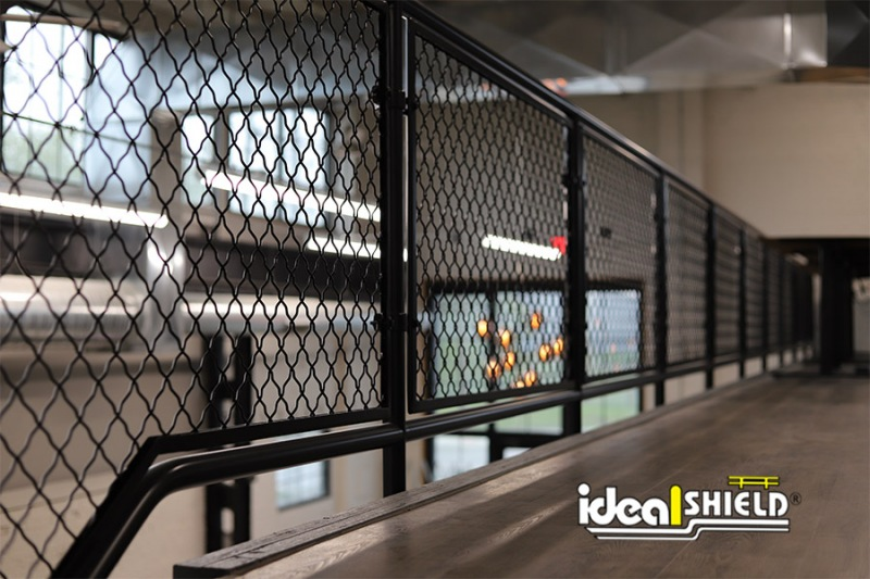 Ideal Shield's Aluminum Handrail powder coated in black