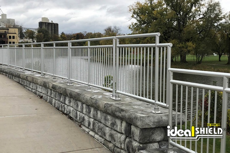 Ideal Shield's Aluminum Handrail in Frankenmuth