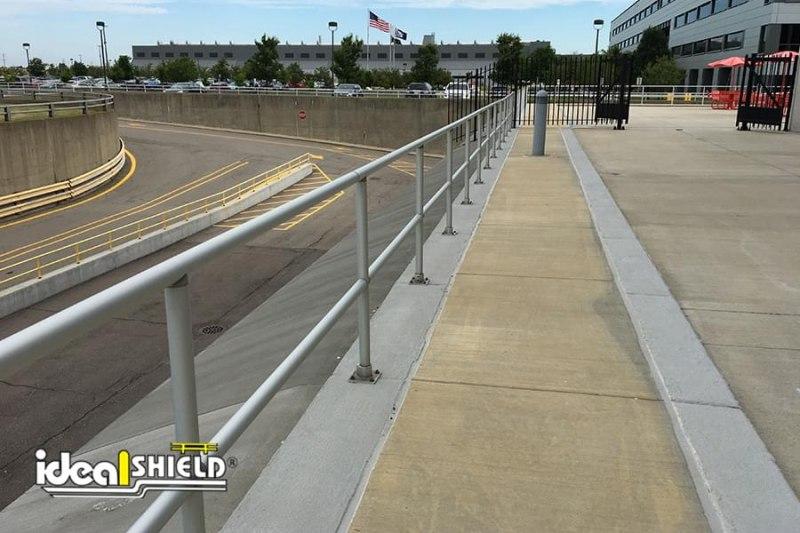 Ideal Shield's Aluminum Handrail along Ledge