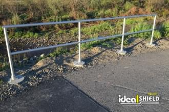 Ideal Shield's Aluminum Handrail used around a bike and walking path