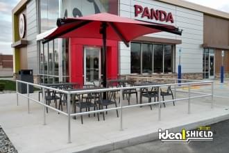 Aluminum Handrail at Panda Express