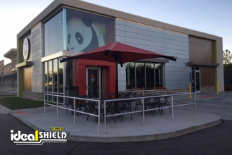 Ideal Shield's Aluminum Handrail at Panda Express