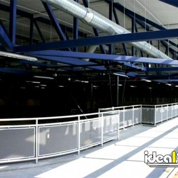 Ideal Shield's Aluminum Handrail around a running track