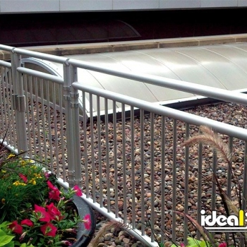 Rooftop Aluminum Handrail With Gate
