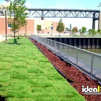 Ideal Shield's Aluminum Handrail along a waterfront