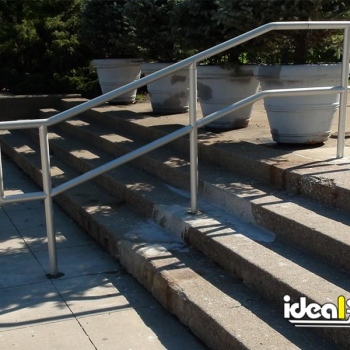 Ideal Shield's Aluminum Handrail at Detroit Public Library