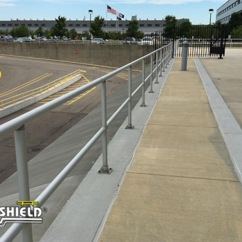 Ideal Shield's Aluminum Handrail on a patio
