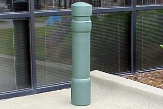 Grey 6 Inch Architectural Decorative Bollard Covers