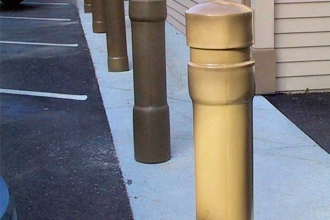 Tan 6 Inch Architectural Decorative Bollard Covers