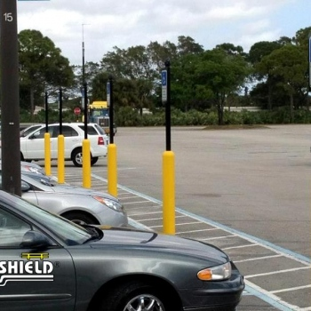 Handicap Parking Bollard Sign System