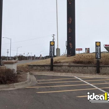 Ideal Shield's Bollard Sign Systems at McDonald's